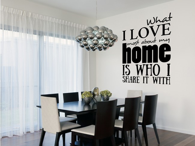Wall sticker What I love the most about... 95718