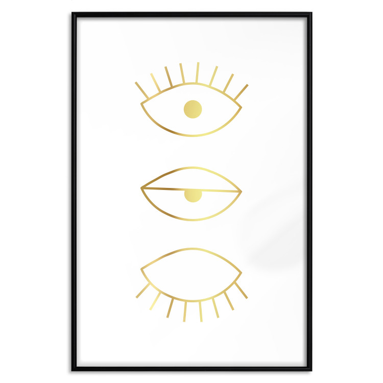In the Blink of an Eye [Deco Poster - Gold]