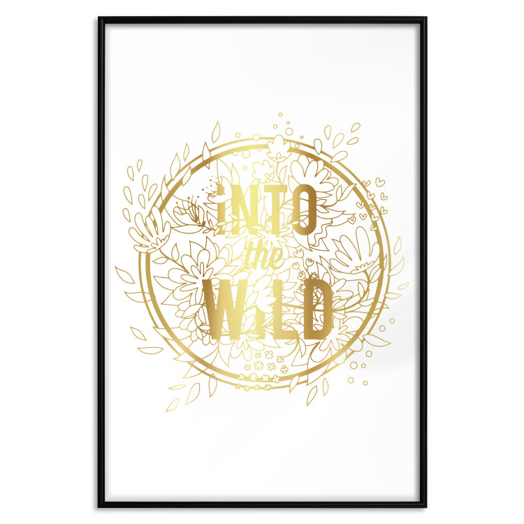 Into The Wild [Deco Poster - Gold]