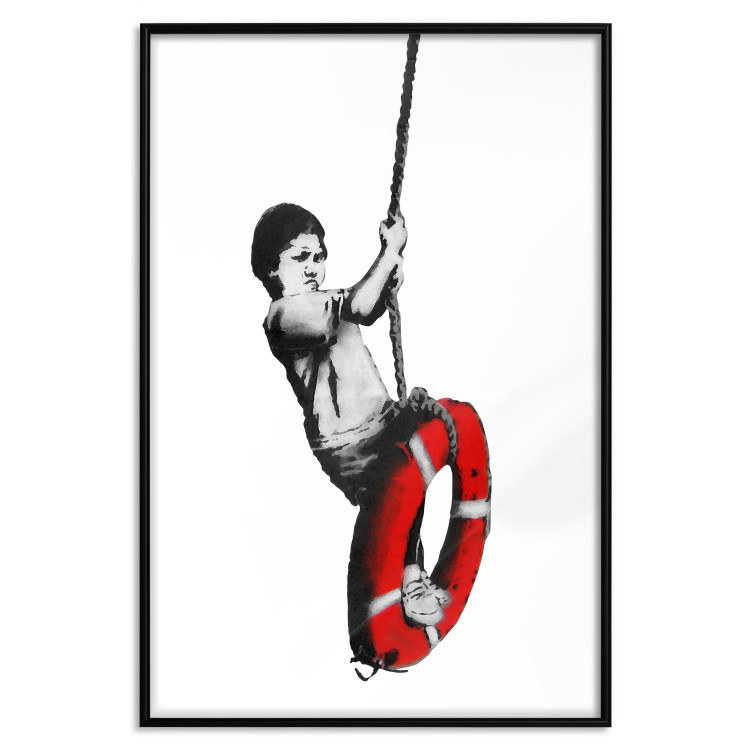 Banksy: Boy on Rope [Poster]