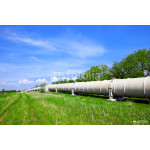 Industrial pipe with gas and oil 64238