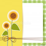 sunflowers with paper  - place your text - girasoli 64238