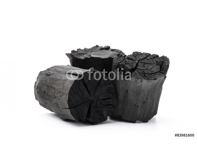 Charcoal isolated on white background 64238