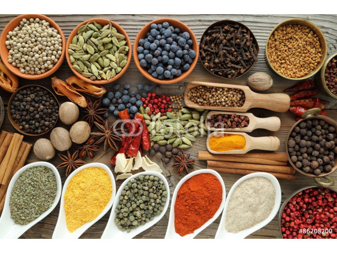 Spices and herbs. 64238