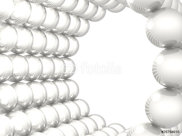Gray reflective spheres on white background 64238
