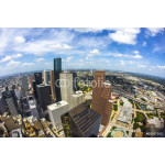 aerial of modern buildings in downtown Houston 64238