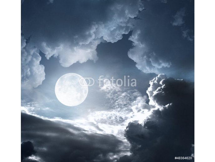 night sky with moon and clouds 64238