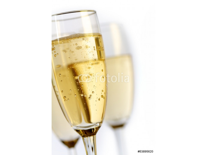 champagne flutes on white background 64238
