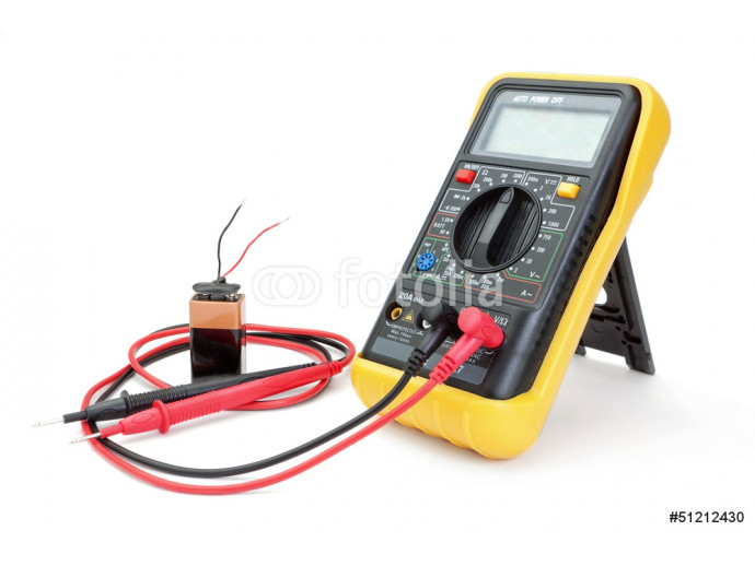 Electrical appliance ammeter - a multimeter to measure the batte 64238