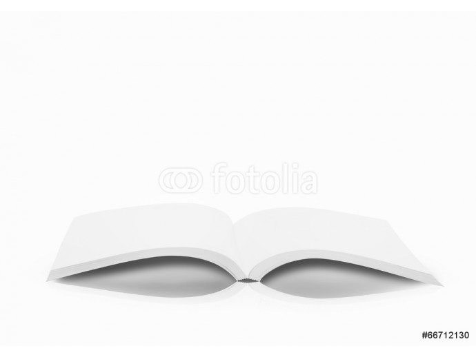 open book on white background 64238