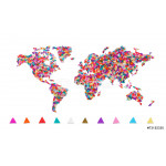 World map made of confetti / with clipping path 64238