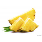 Ripe pineapple with leaf. 64238