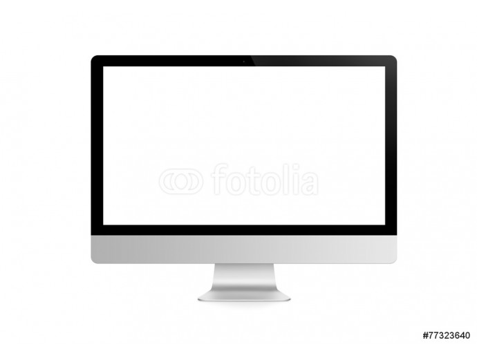 Computer display isolated on white 64238