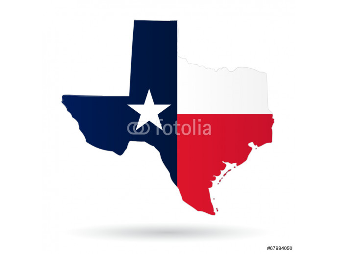texas american state with flag silhouette 64238