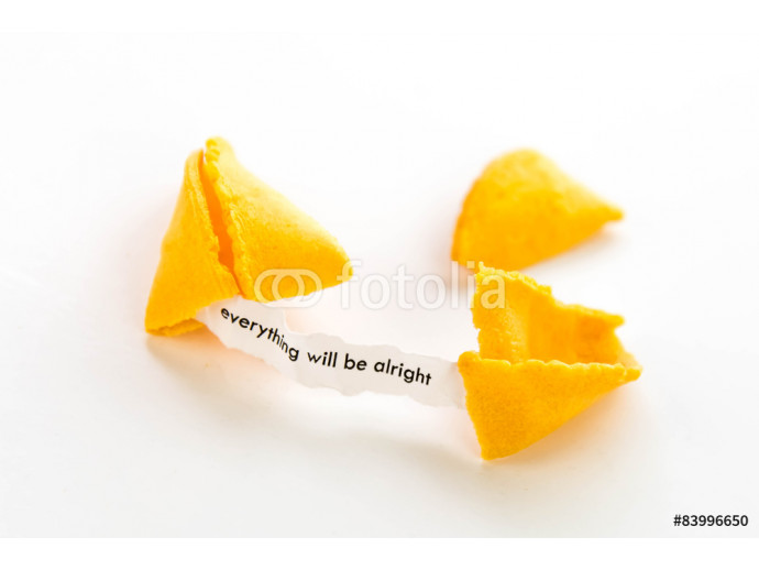 Vliestapete open fortune cookie - EVERYTHING WILL BE ALRIGHT 64238