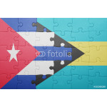 puzzle with the national flag of bahamas and cuba 64238