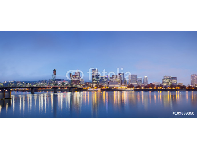 water,cityscape and skyline of portland in blue sky 64238