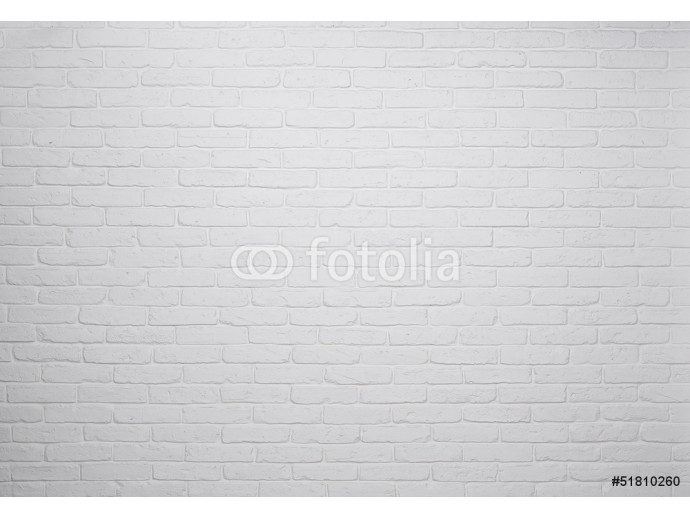 White brick wall background, texture 64238