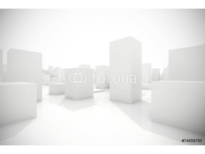 Vliestapete abstract blocks city 64238