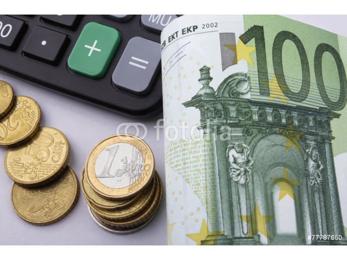 Euros (EUR) notes and coins. Business concept. 64238