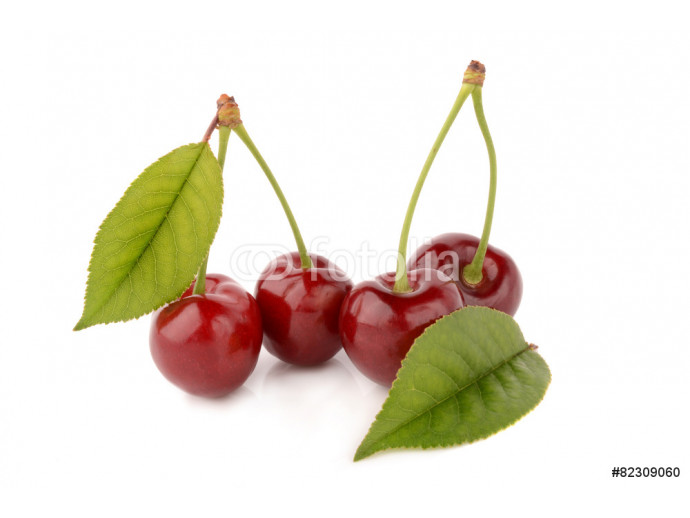 Cherry on white background 64238