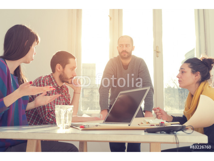 Young group of people discussing business plans. 64238