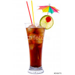 Cuba Libre Cocktail isolated on white 64238