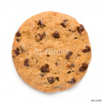 Chocolate Chip Cookie on White 64238