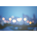 Abstract urban night light bokeh, defocused background 64238