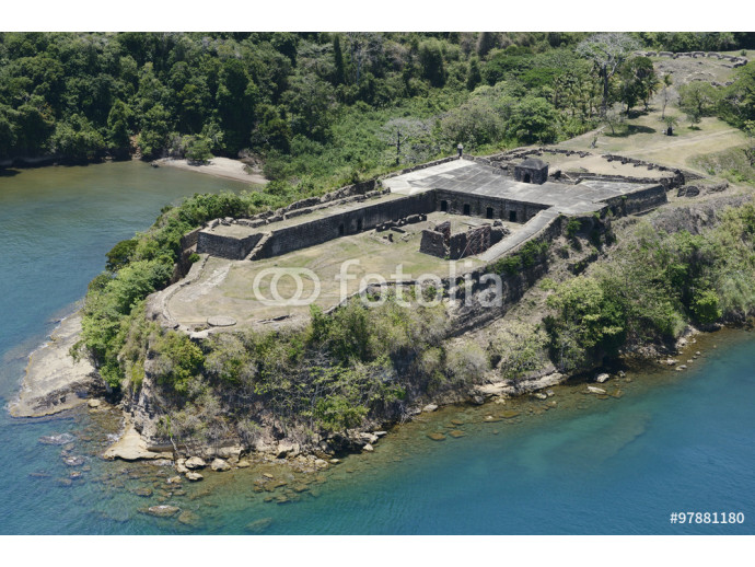 Aerial view of Fort Sherman at Toro Point, Panama Canal, Panama 64238