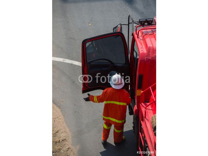 Fototapeta firefighter training 64238
