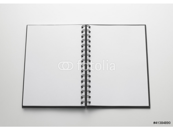 open notebook, white pages - quaderno aperto, pagine bianche 64238
