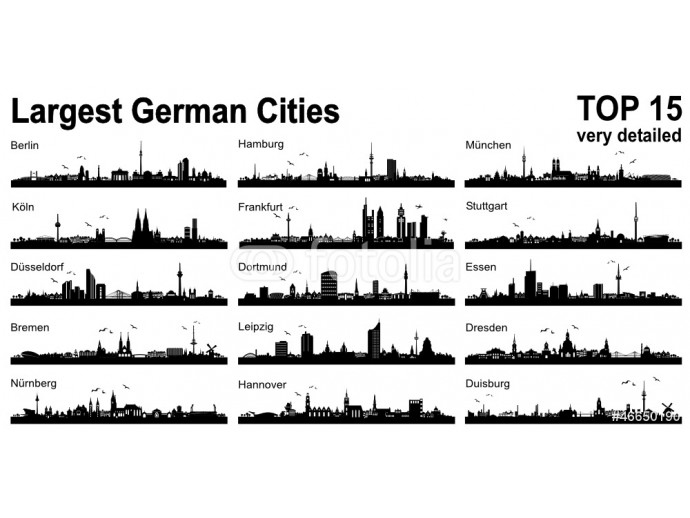 Set Skylines - 15 largest german cities 64238
