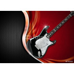 Electric Guitar on Luxury Background 64238
