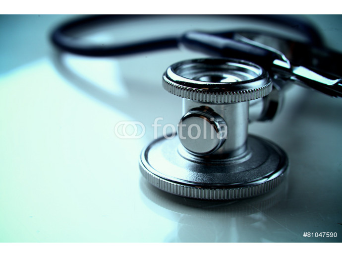 Medical stethoscope in white background 64238