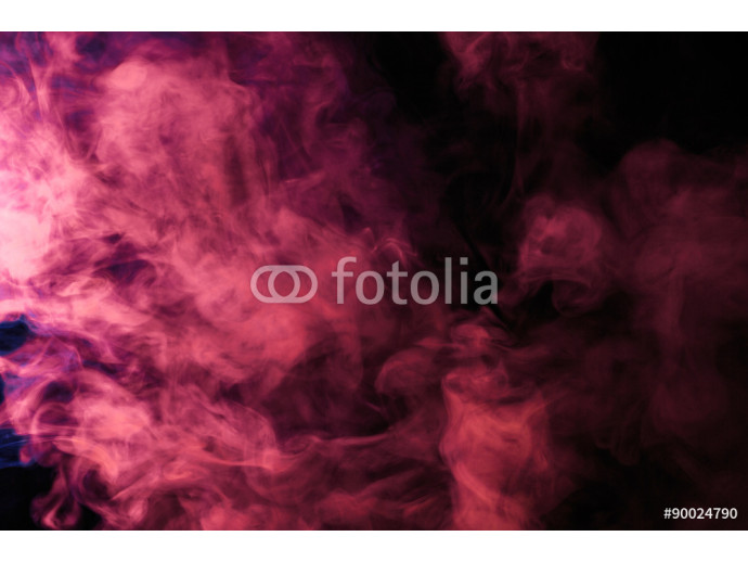 Fotomural decorativo Abstract colored smoke hookah on a black background. 64238
