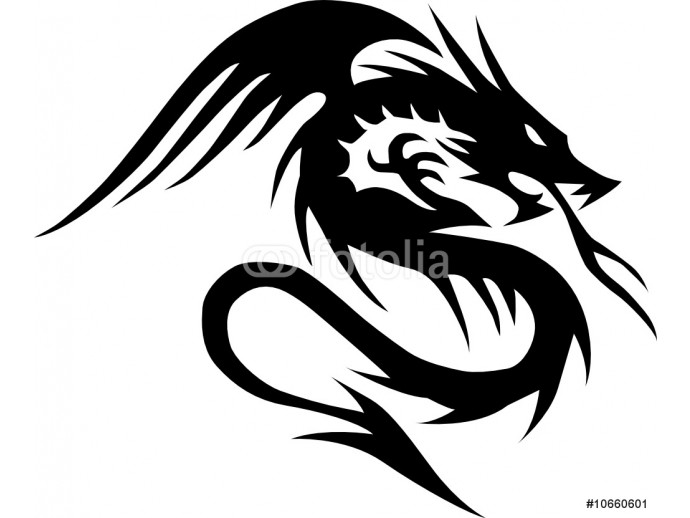 dragon silhouettes vector 64238