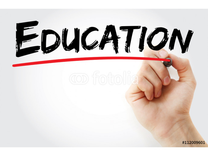Hand writing Education with marker, business concept 64238