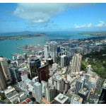 Auckland City & Harbour Aerial, New Zealand 64238
