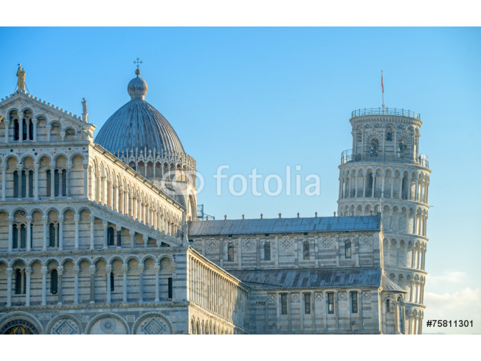 Pisa, Tuscany. Detail of Cathedral in Square of Miracles 64238