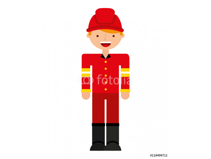fire fighter character isolated icon 64238