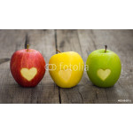 Apples with engraved hearts 64238