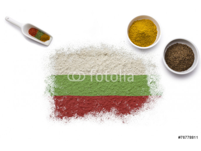 Spices forming the flag of Bulgaria.(series) 64238