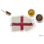 Spices forming the flag of England.(series) 64238