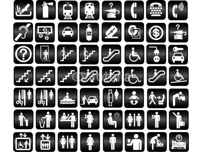 tourist locations icon - vector 64238