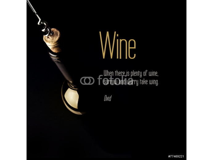 Inspirational quote about Wine. 64238