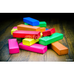 Colorful wooden blocks game for children, Concept image 64238