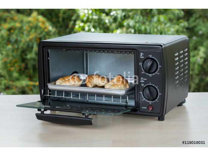 black toaster oven on natural background 64238