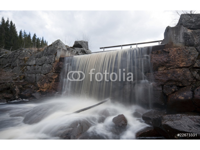 Waterfall fron a water gate. Long exposure. 64238