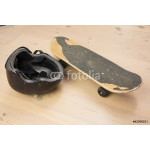 Skateboard and protective helmet 64238
